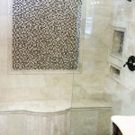 stone and tile bathroom shower